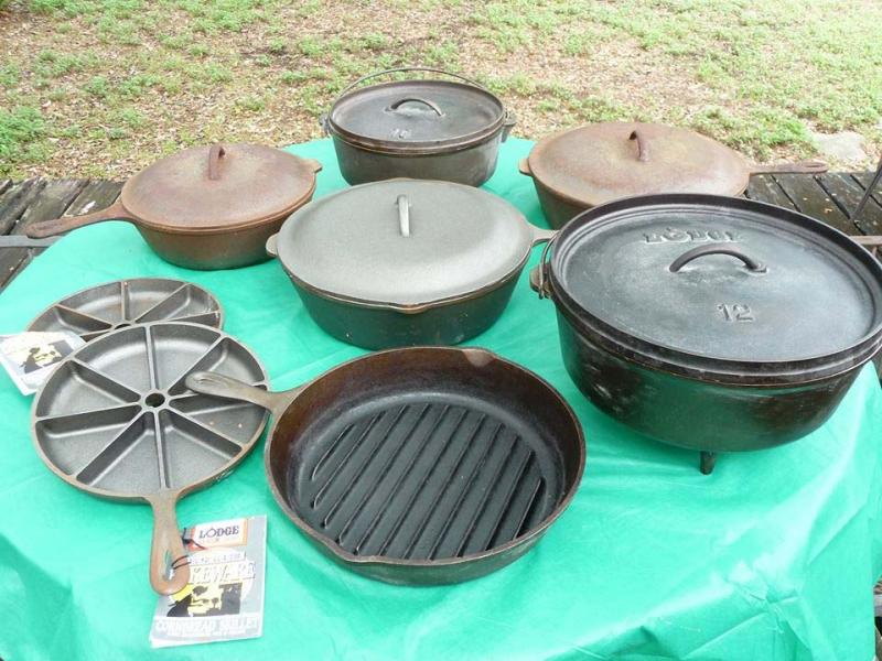 We're selling our cast ironall the items are original, old fashion